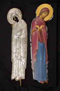 Iconography is the work of the famous iconographer, George Fillipakis.   Icon of the Burial Shroud of the Mother of God
